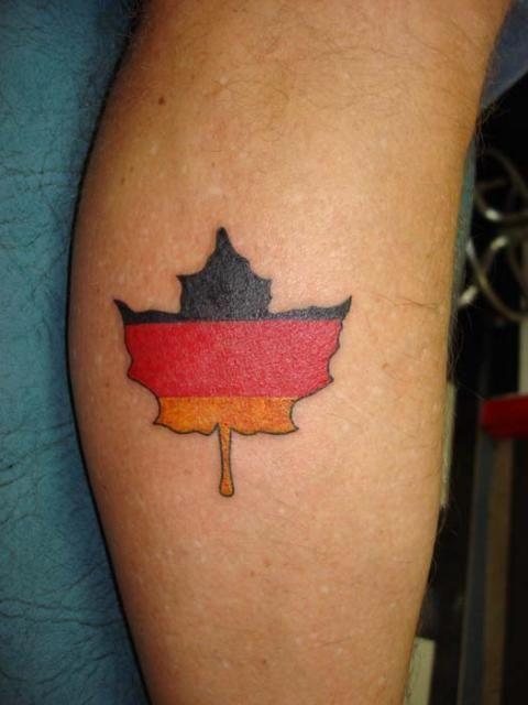 german leaf tattoo with opa s date for a reminder tattoos rh pinterest co uk tattoo german flag tattoo german flag