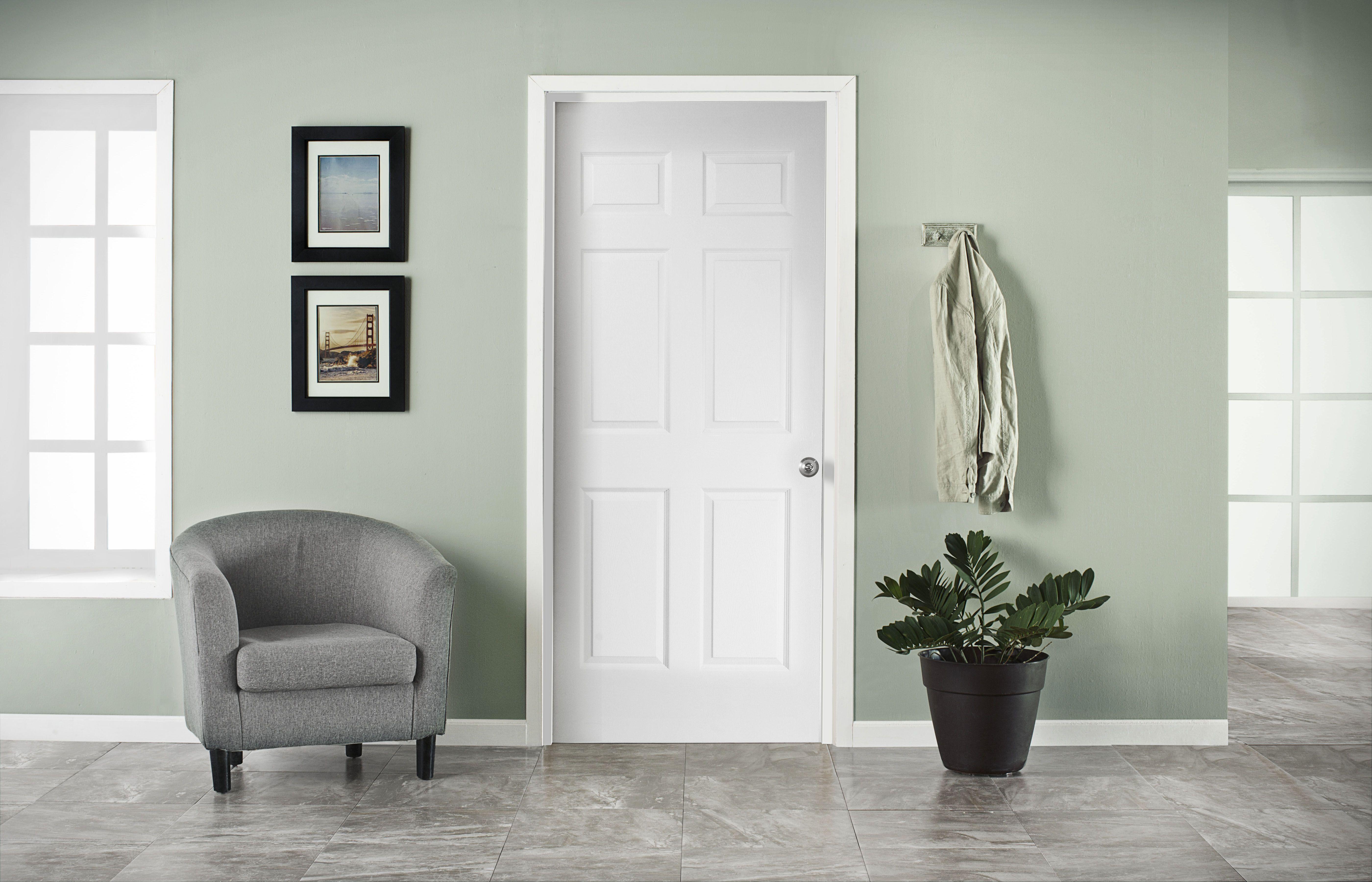 Combo puerta california 6 páneles con marco 90 x 213 cm | Puertas ...