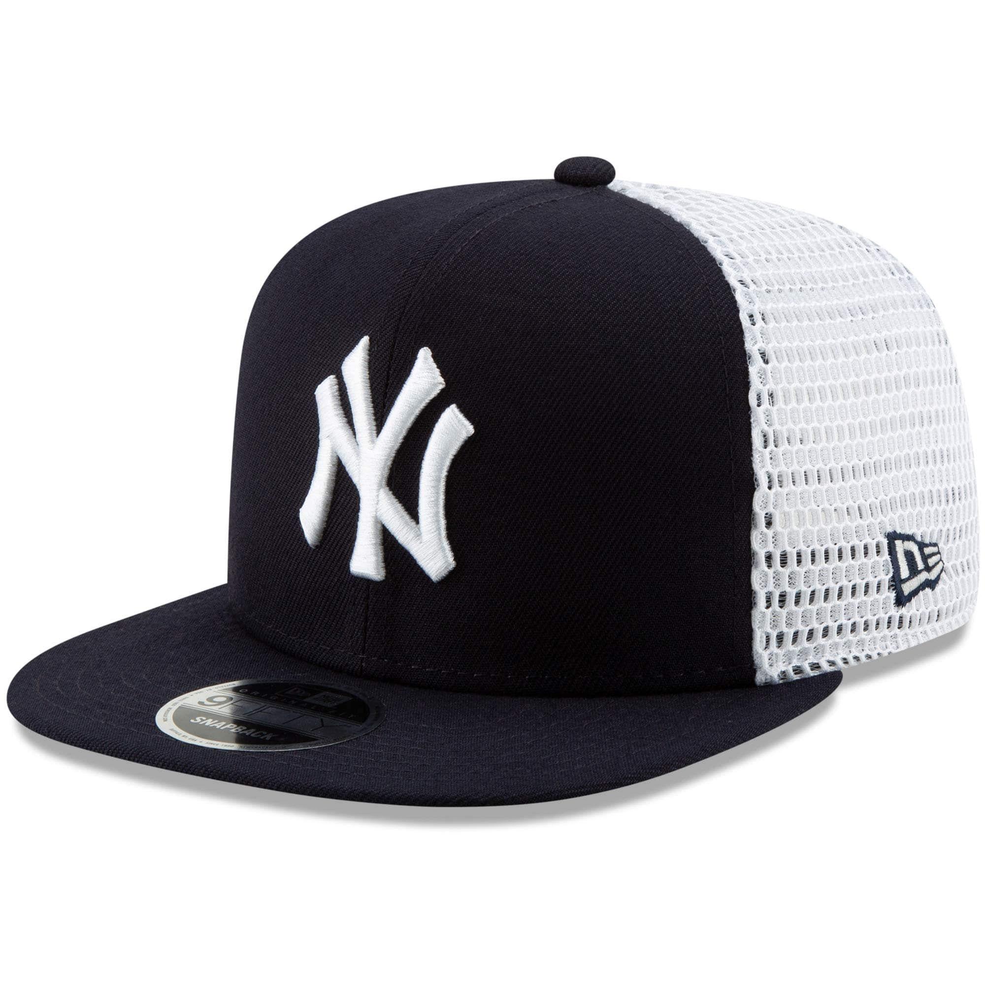New York Yankees New Era Mesh Fresh 9fifty Adjustable Snapback Hat Navy White In 2020 Snapback Hats New York Yankees Hats