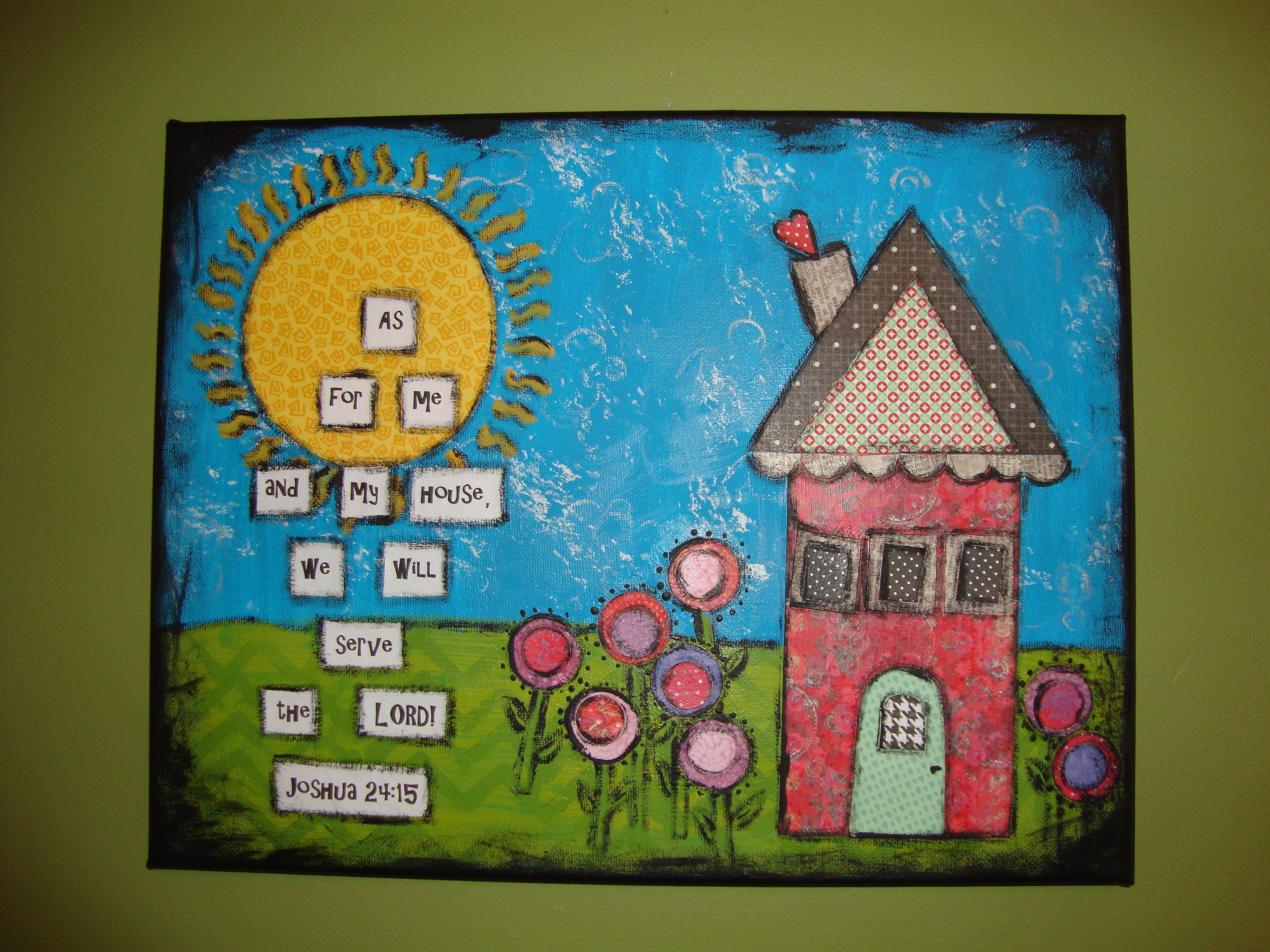 Paper and paint on canvas cool art ideas pinterest for Cool canvas painting ideas