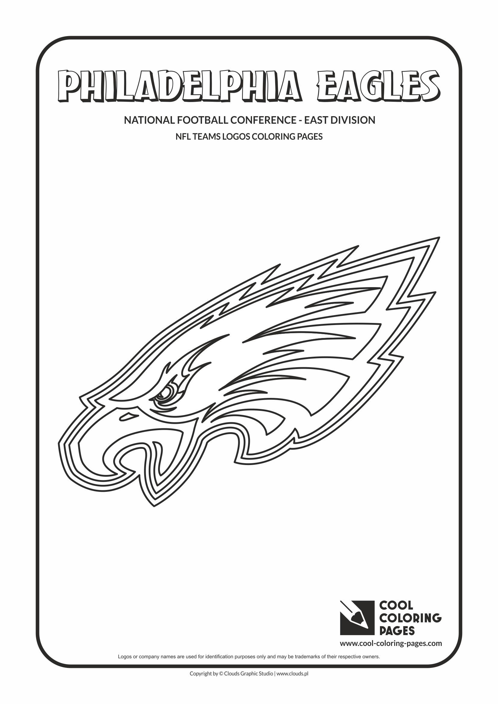 Philadelphia Eagles Nfl American Football Teams Logos Coloring