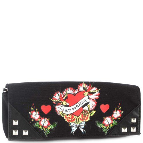 Ed Hardy Marilyn Flower Girl Clutch -Black - http://handbagscouture.net/brands/ed-hardy/ed-hardy-marilyn-flower-girl-clutch-black/
