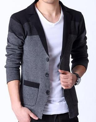 Luxury Spring Knitted Blazer Mens Knitted Cardigan Mens Outfits Mens Blazer Jacket