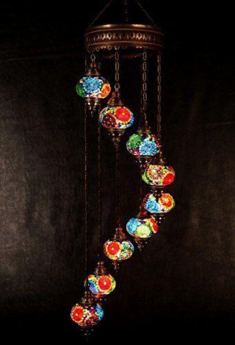 Large Chandelier, Floor Chandelier, Ceiling Lights, Turkish Lamps, Hanging Mosaic Lights, Pendant, Color Glass, Moroccan Lantern, 9 Bulbs, Express Shipping GrandBazaarShopping http://www.amazon.com/dp/B00VAJAY2O/ref=cm_sw_r_pi_dp_37Oxvb1TMJ1EV