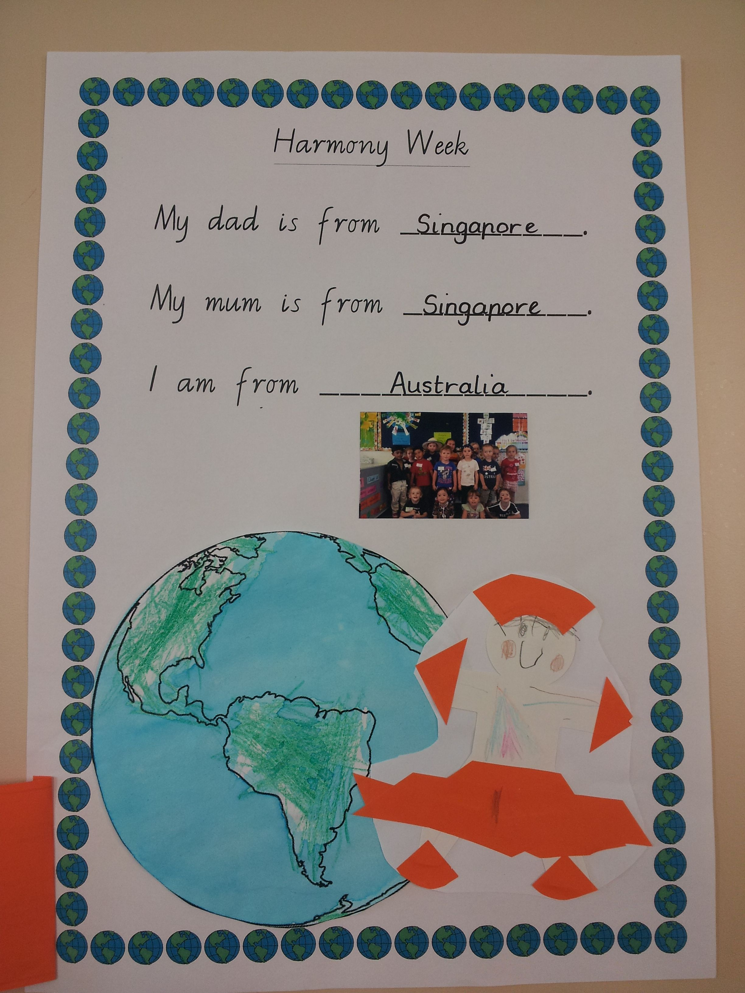 Harmony Week Activity School