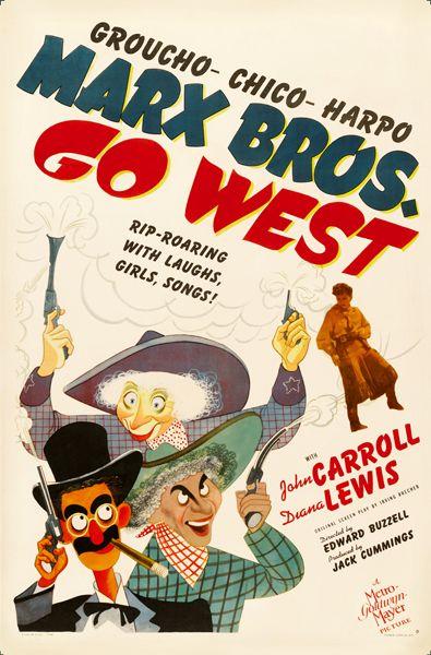 Go West (1940) El estilo de los hermanos Marx 27x41 D