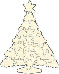 blankopuzzle christbaum, | laubsäge vorlagen weihnachten, weihnachtspuzzle und basteln