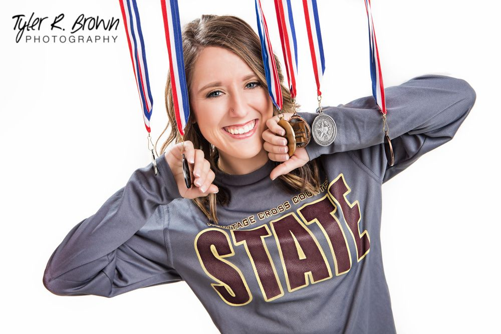 Cheyenne Allison - Heritage High School - Senior Portraits - Class of 2015 - Ideas for Girls - Senior Pictures - Ideas for Athletes - Medals - State Champion - Studio - Frisco, Texas - #seniorpics - Tyler R. Brown Photography