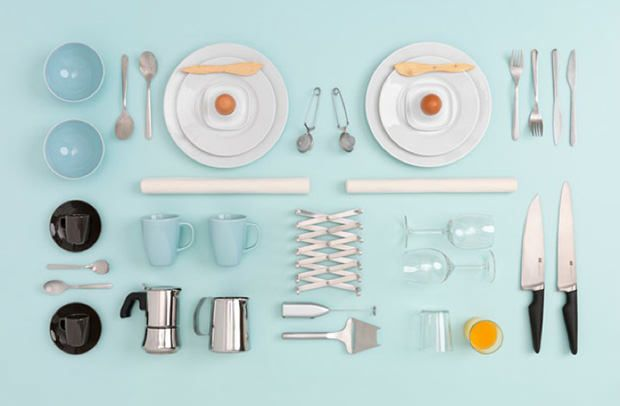 Beautiful Photos of #IKEA Kitchen Items Neatly Arranged... the Swedish furniture company has teamed up with the photographer and stylist #Evelina_Kleiner.  See others at #PetaPixel