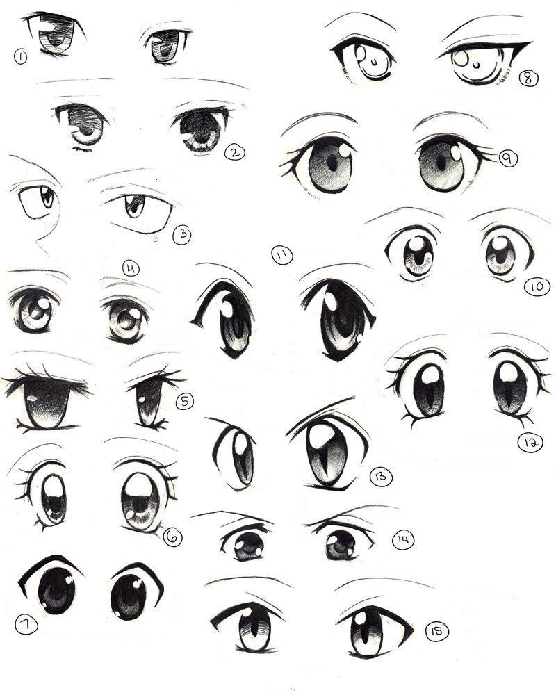 Basic Anime Eyes Anime Eye Drawing How To Draw Anime Eyes Girl Eyes Drawing