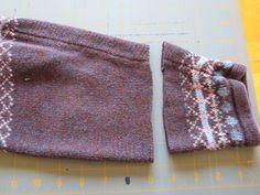 Photo of Sweater Mitten Tutorial