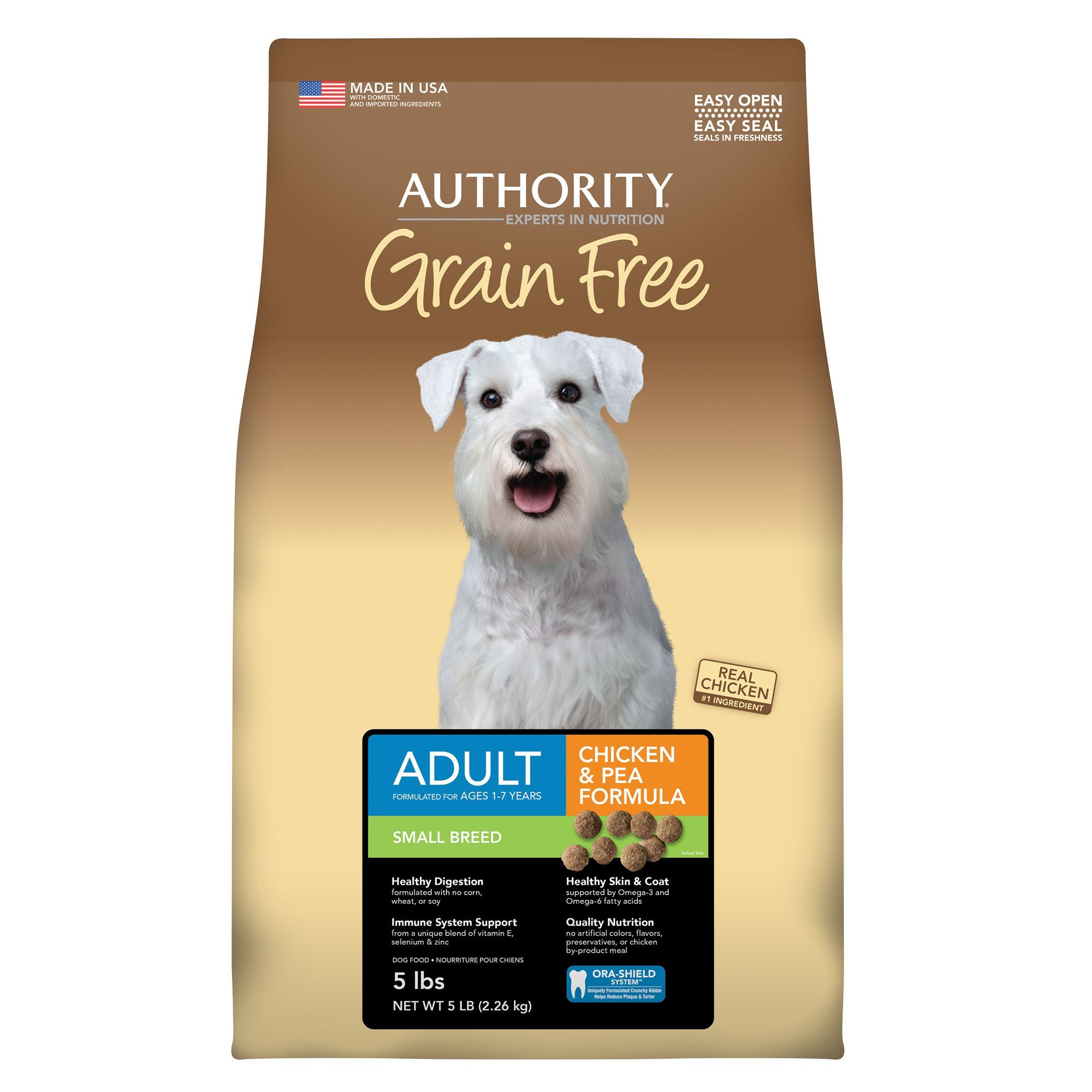 Authority Small Breed Adult Dog Food Grain Free Chicken And Pea