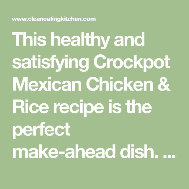 Crockpot Mexican Chicken & Rice (Gluten-Free)
