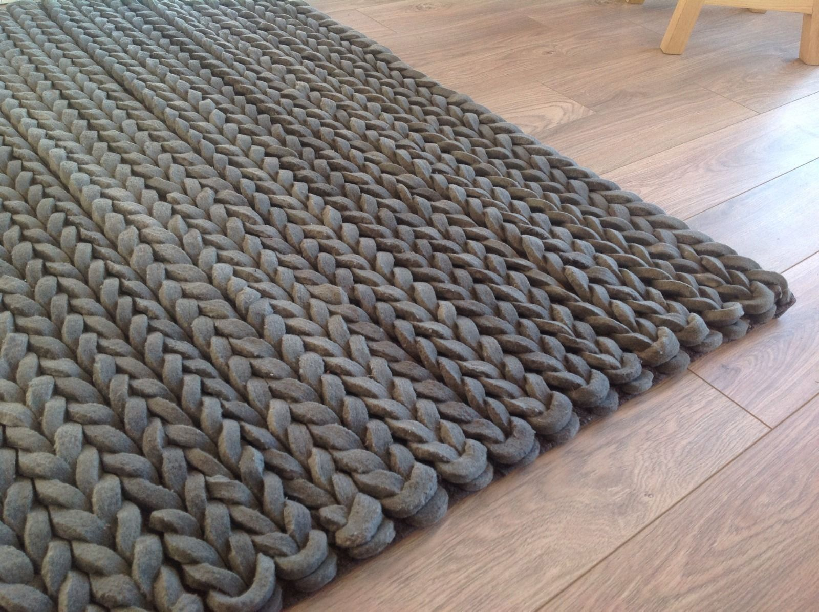 Wool Pleated Rug Close Up