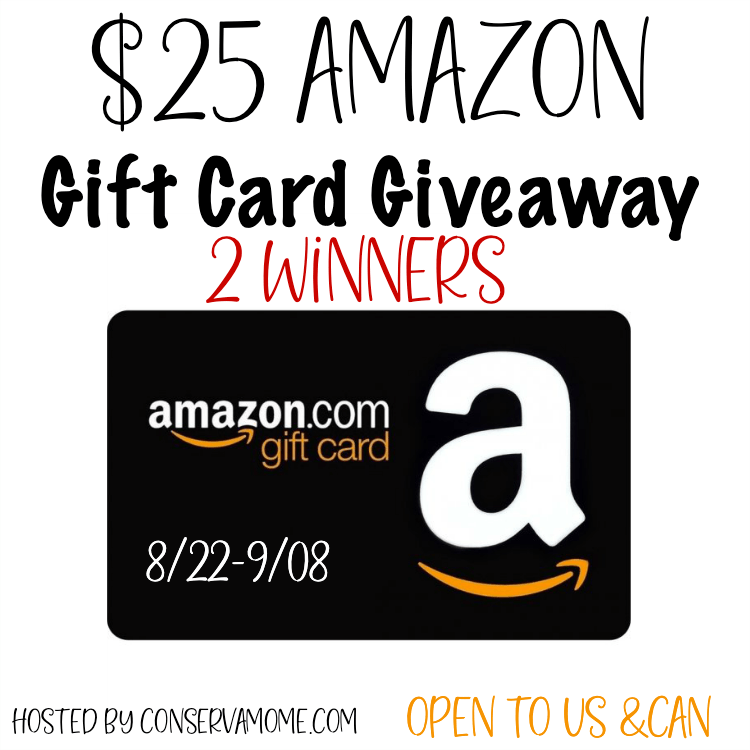 Enter To Win A 25 Amazon Gift Card Open To Us Can 2 Winners Amazon Gift Cards Amazon Gift Card Free Gift Card Giveaway