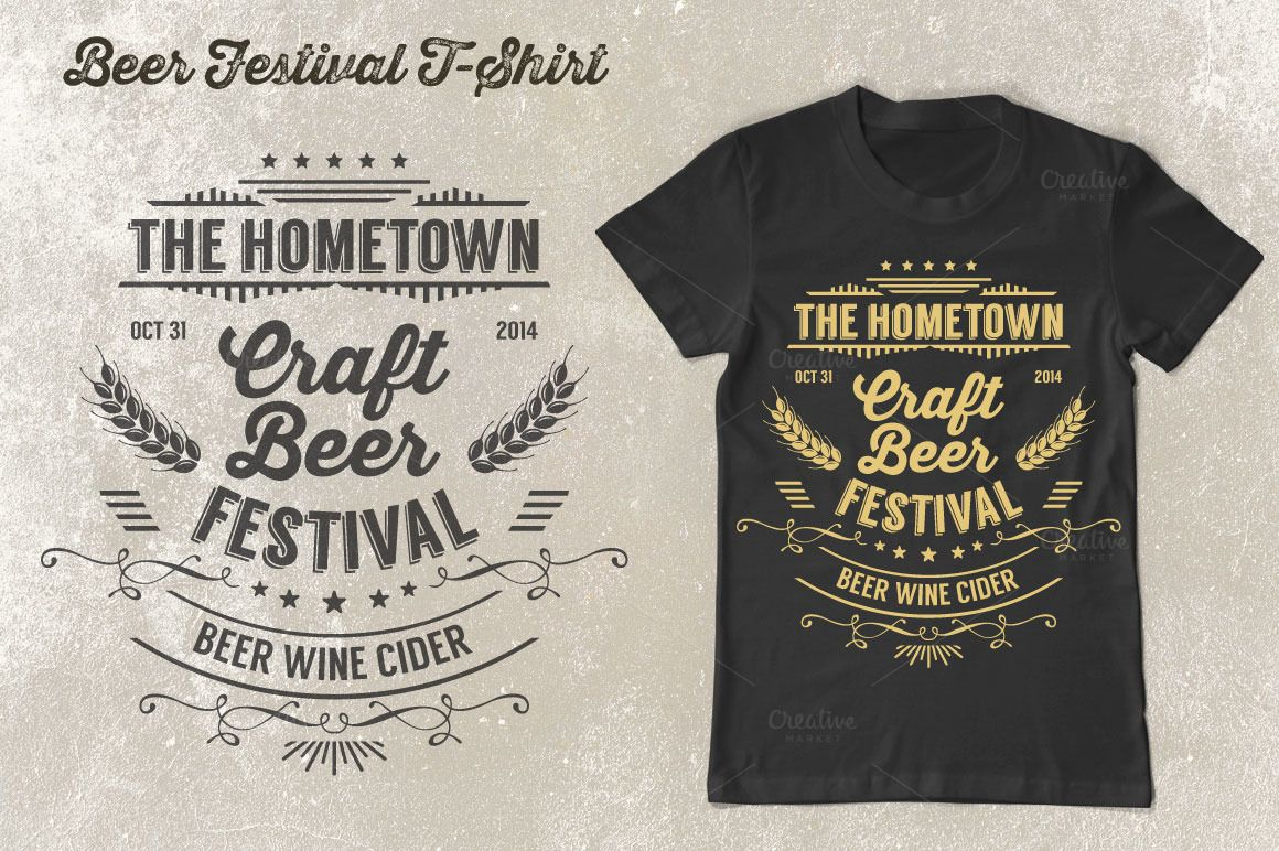 04cd3cf2 Beer Festival T-Shirt Vol. 2 by Rooms Design Shop on Creative Market More