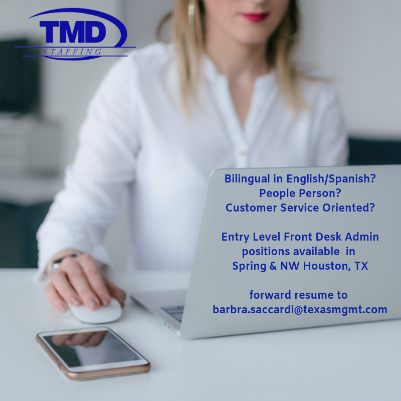 Entry Level Front Office Houston Tx Job Training Entry Level Front Office