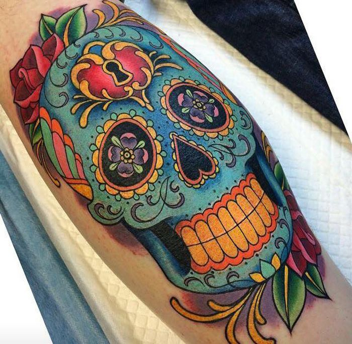 57 Badass Sugar Skull Tattoos Made For Tattoos Elite Ink