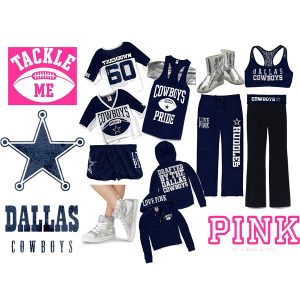 2098b6d42 Victoria's Secret PINK Dallas Cowboys outfit ideas - created by me ...