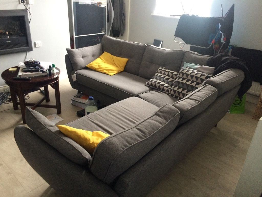 Dwell zinc corner sofa for sale £450 | Dunfermline, Fife | Gumtree ...