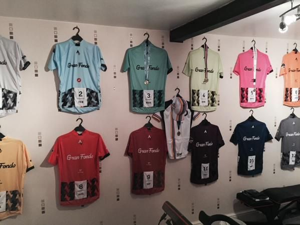 Complete Strava Gran Fondo Jersey Collection from 2014. a6efcfcfa