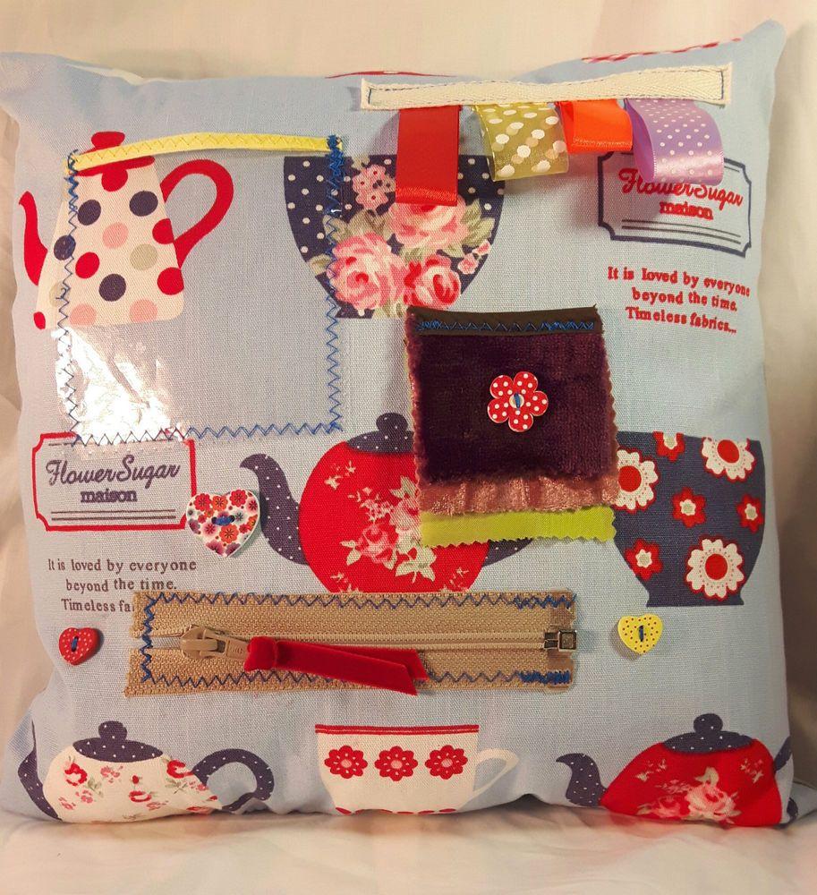 Sensory Activity Fidget Tea Lovers Teapot Cushion Pillow