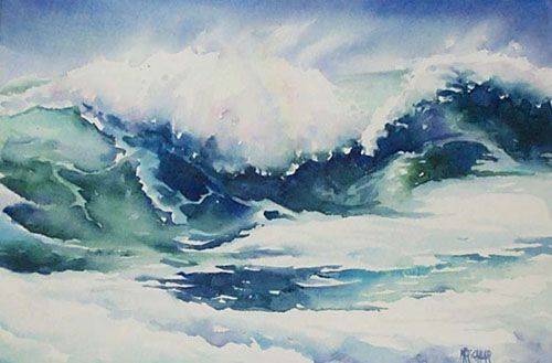 Aquarelles Marines Aquarelle Marichalar Watercolor Plage