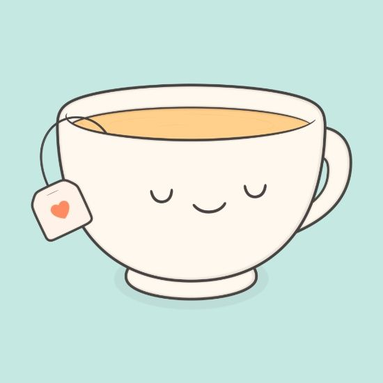 Happy teacup | Kawaii stickers, Printable stickers, Tumblr ...