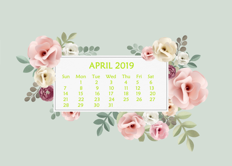 April 2019 Desktop Wallpaper With Calendar Calendar Wallpaper Desktop Calendar Desktop Wallpaper Calendar