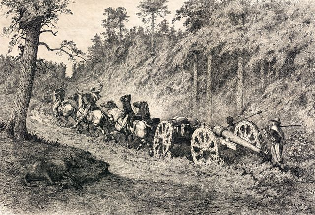 Edwin Forbes Civil War Drawings Through The Wilderness Edwin