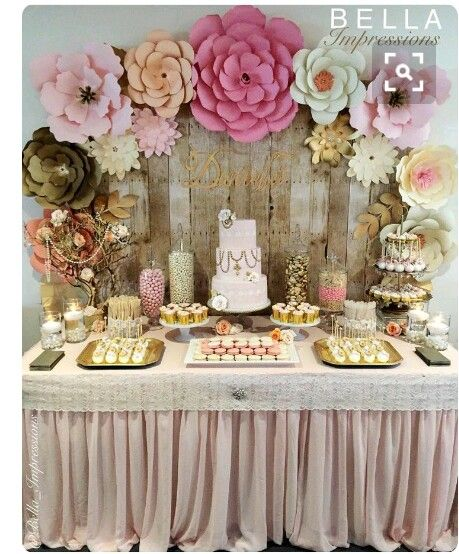 Mesa De Dulces Cupcake Table Cake Birthday Decorations 50th