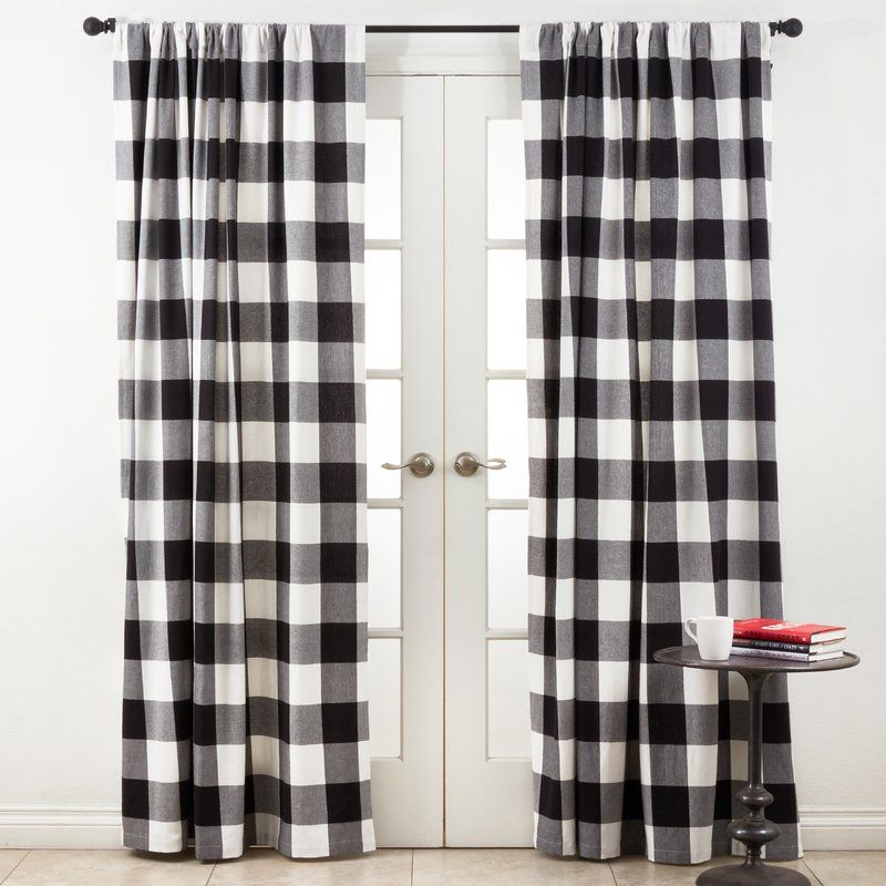 Celinda Plaid Room Darkening Single Curtain Panel Plaid Curtains