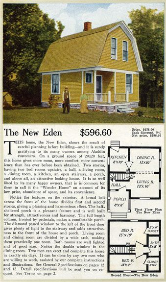 1916 Aladdin Homes New Eden Dutch Colonial Revival Vintage House Plans Dutch Colonial Homes Colonial House Plans