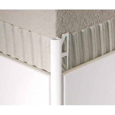 Pvc Aluminum Quarter Circle Tile Trim Finish White Tile