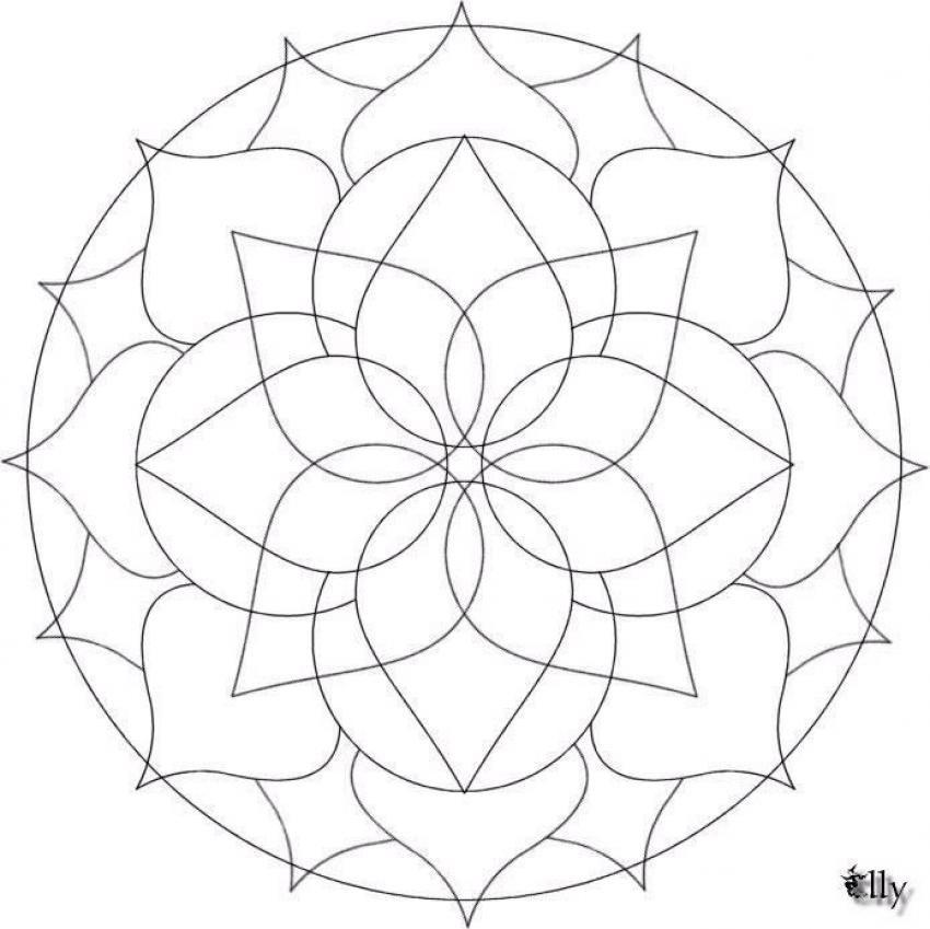 Difficult Mandala Coloring Pages Mandala 19 Mandalas For