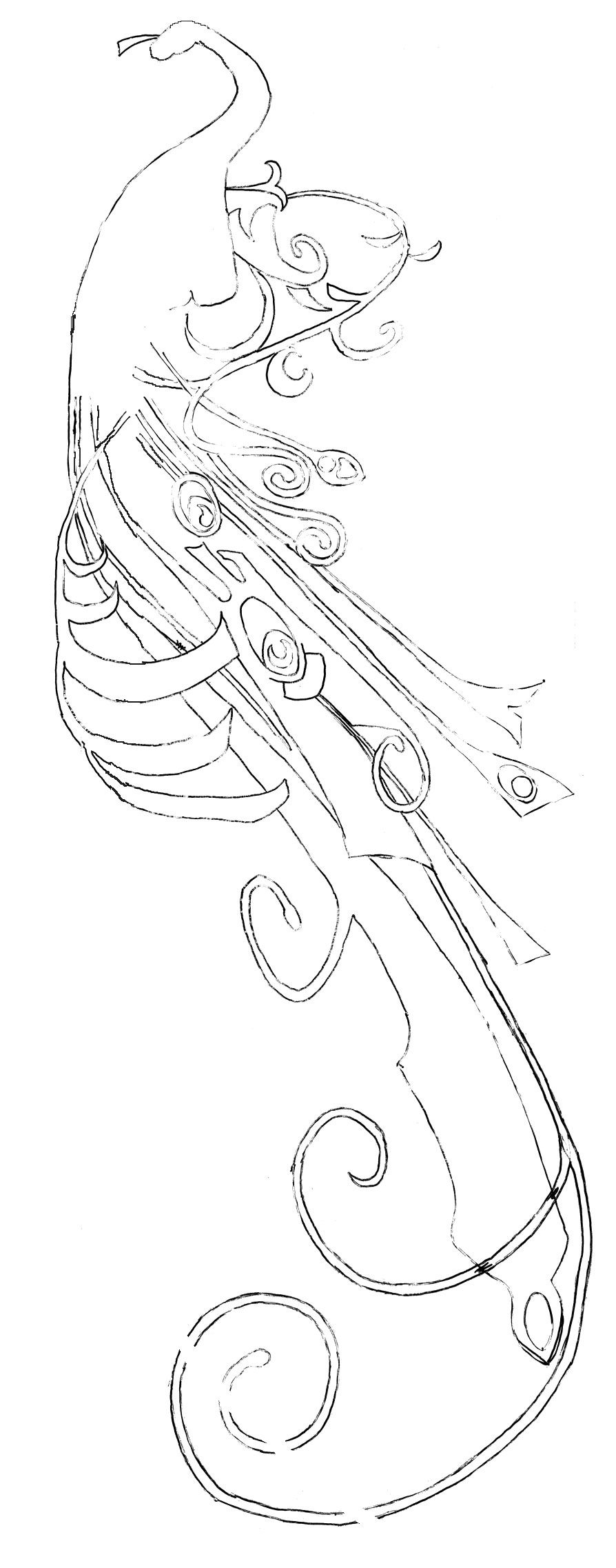 Quiver free coloring pages - Legolas Peacock Quiver Pattern