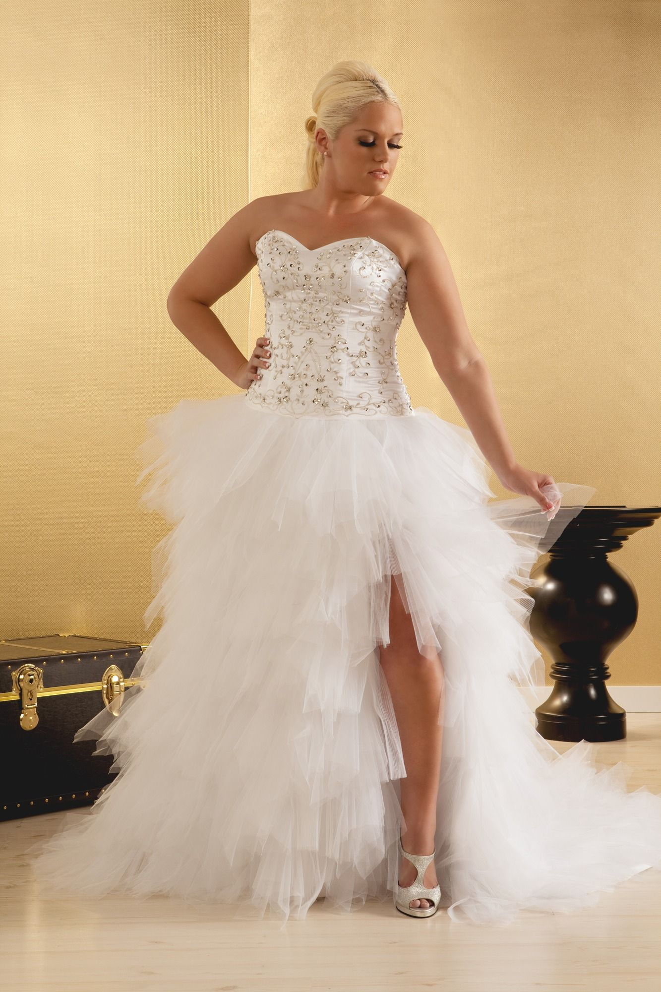 Wedding dresses for plus size brides  Kendall Plus Size Wedding Dress Plus Size Ball Gown  Real Size