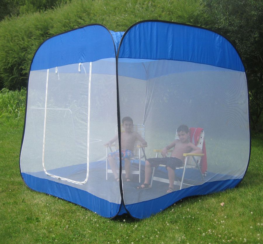 Screen Tent Floor Pop Up Room Camping Insect Proof Beach Shelter Picnic Sun