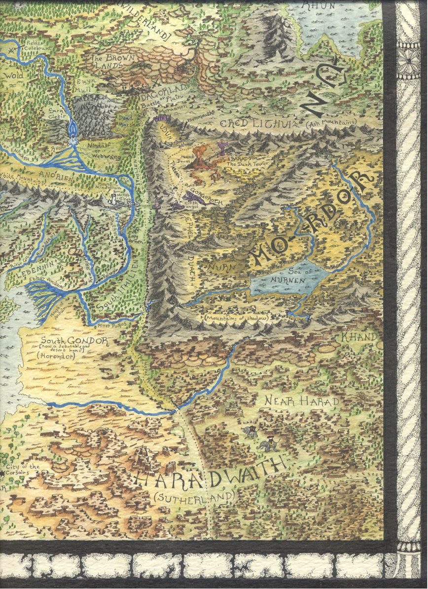middle earth map 66 by mike lafayette