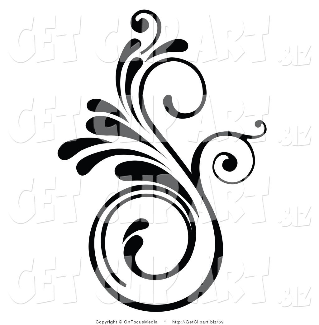Swirl Designs Clip Art Of An Elegant Swirling