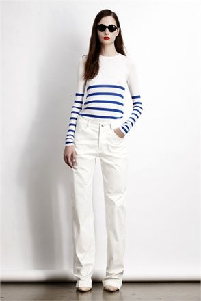 27f953a3b26 Stripes   White.... ONE OF MY FAVOURITE LOOKS MARIN for WINTER PUT W NAVY  CABAN Tara Jarmon