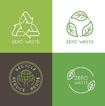 Living A Zero Waste Lifestyle 10 Tips Vector Logo Design