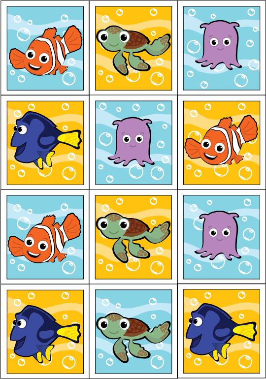 Nemo stickers Finding Nemo Birthday Party Finding nemo