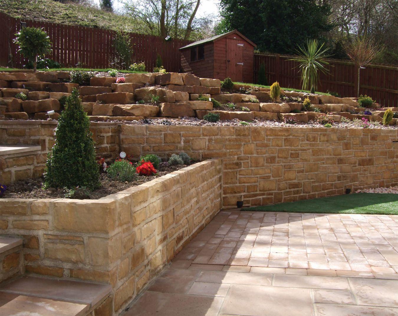 terraced backyard | Terraced backyard, Sloped garden ...