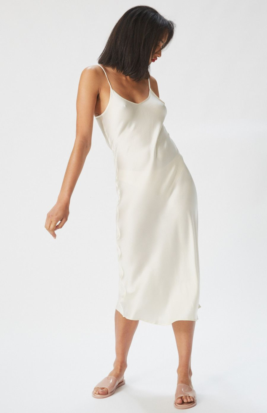 90s Silk Slip Dress In Ivory By Silk Laundry Ethically Made In A Transparent Supply Chain And The Perfect Special Event Slip Dress Silk Slip Dress Silk Slip [ 1389 x 900 Pixel ]