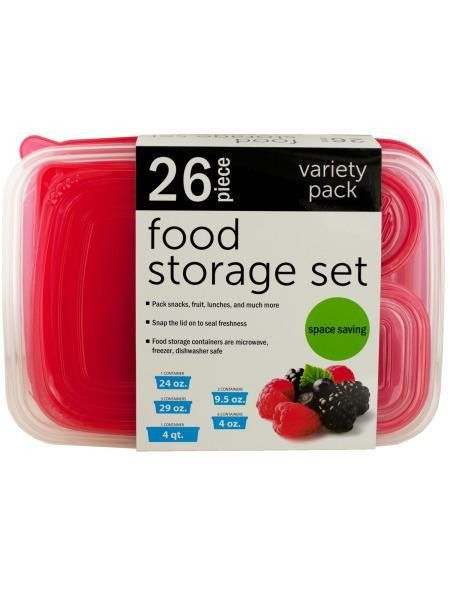 Variety Nesting Food Storage Container Set (Available in a pack of 1)