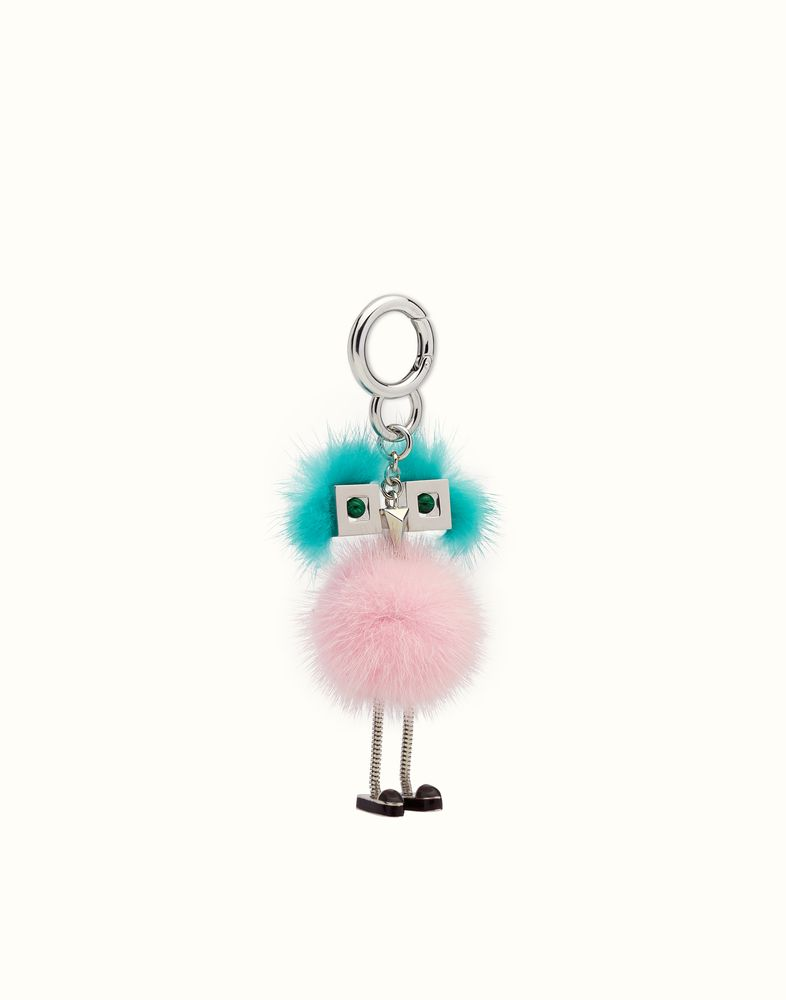 7bbfb8ecf4 FENDI CHICK BAG CHARM - Charm in pink and light blue fur | Fendi挂件 ...