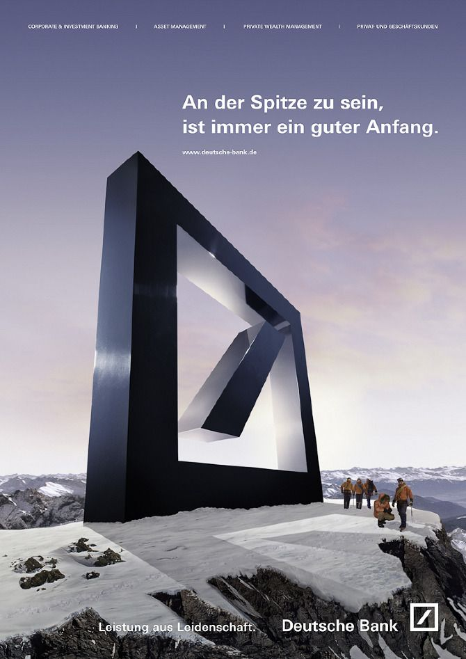Deutsche Bank Banks Ads Banks Advertising Bank Branding