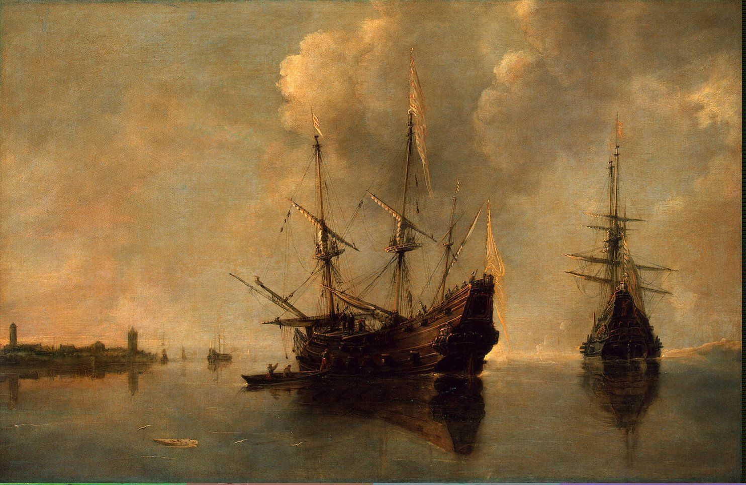 Famous Ship At Dock Painting