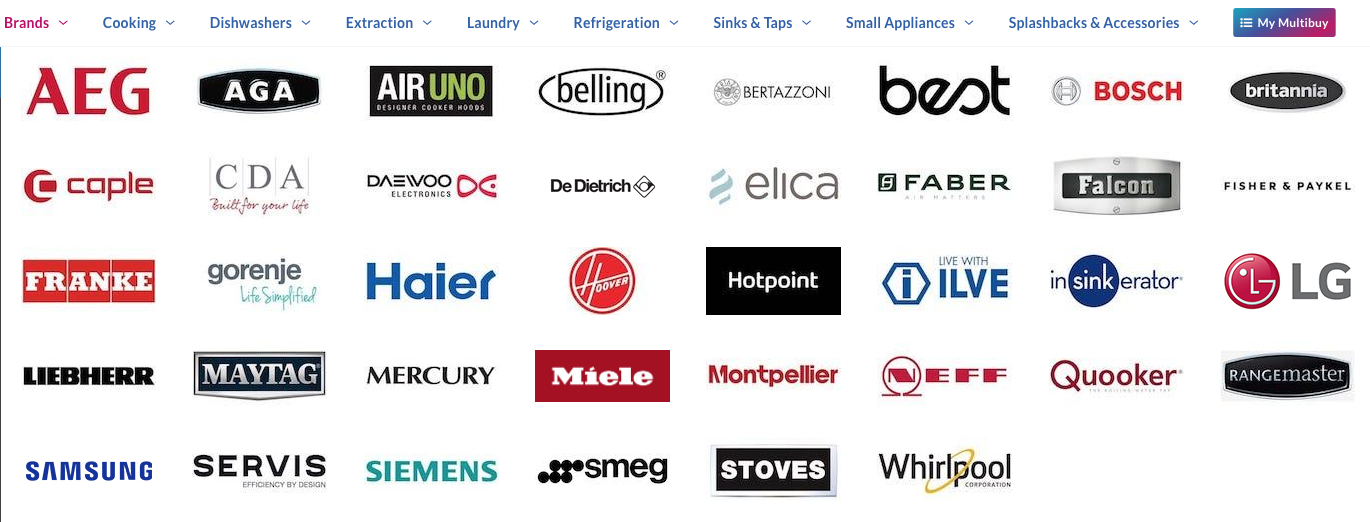 All The Top Brands In One Place Hotpoint Kitchen Appliances